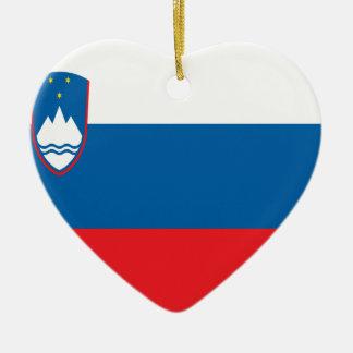 Niedrige Kosten! Slowenien-Flagge Keramik Herz-Ornament