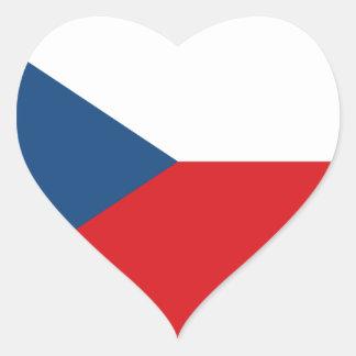 Niedrige Kosten! Tschechische Republik-Flagge Herz-Aufkleber