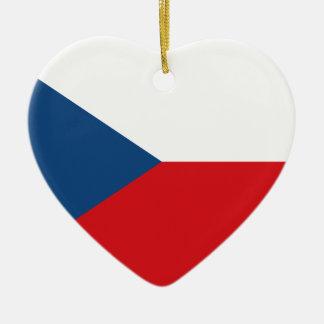Niedrige Kosten! Tschechische Republik-Flagge Keramik Herz-Ornament