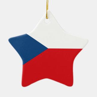 Niedrige Kosten! Tschechische Republik-Flagge Keramik Stern-Ornament
