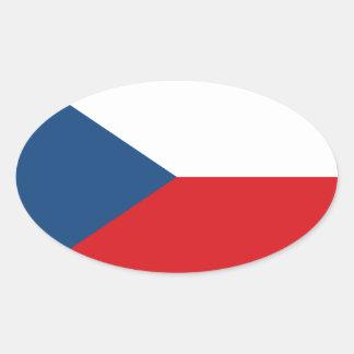 Niedrige Kosten! Tschechische Republik-Flagge Ovaler Aufkleber