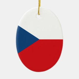 Niedrige Kosten! Tschechische Republik-Flagge Ovales Keramik Ornament