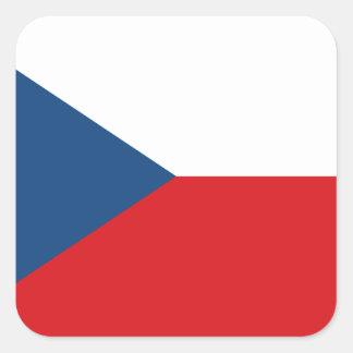 Niedrige Kosten! Tschechische Republik-Flagge Quadratischer Aufkleber