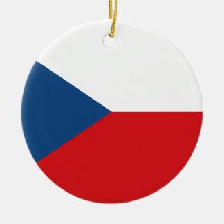 Niedrige Kosten! Tschechische Republik-Flagge Rundes Keramik Ornament