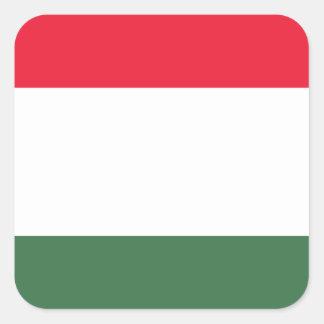 Niedrige Kosten! Ungarn-Flagge Quadratischer Aufkleber