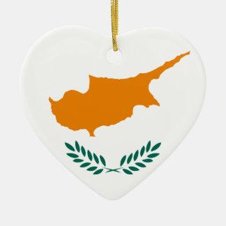 Niedrige Kosten! Zypern-Flagge Keramik Ornament