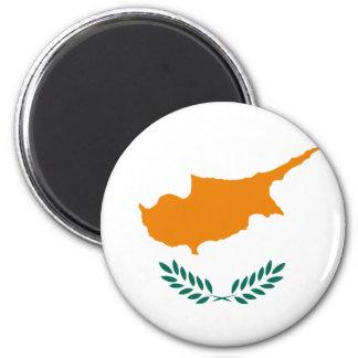 Niedrige Kosten! Zypern-Flagge Runder Magnet 5,1 Cm