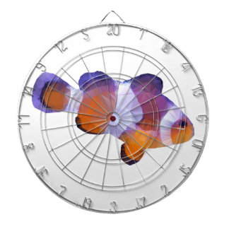 Niedrige Polyclown-Fische Dartscheibe