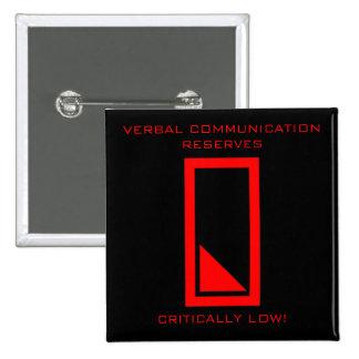 Niedrige Rede hebt Knopf auf Quadratischer Button 5,1 Cm
