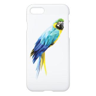 Niedriger Polygonvogel des blauen Macaw iPhone 8/7 Hülle