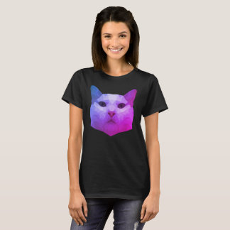 Niedriger Polykatzen-T - Shirt