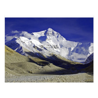 Niedriges Lager Tibet Everest Postkarte