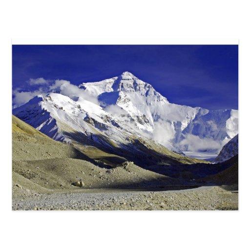 Niedriges Lager Tibet Everest Postkarte
