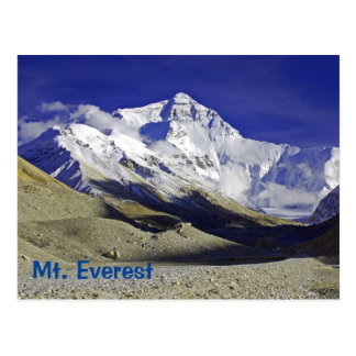 Niedriges Lager-Tibetanerseite des Mount Everest Postkarte