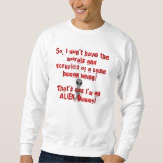 Niedriges menschliches alien sweatshirt