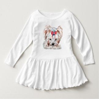 Niedriges Polyentwurf Hundekleinkind-Rüsche-Kleid Kleid