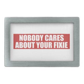 Niemand interessiert sich für Ihr Fixie Rechteckige Gürtelschnallen