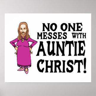 Niemand verwirrt mit Tante Christus Poster