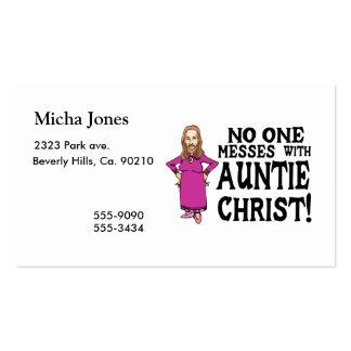Niemand verwirrt mit Tante Christus Visitenkarten