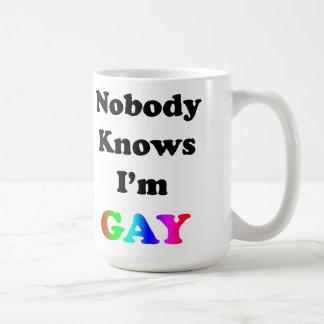 Niemand weiß, dass ich homosexuell bin kaffeetasse