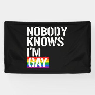 Niemand weiß, dass ich homosexuelle - - LGBTQ Banner
