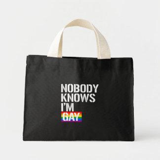 Niemand weiß, dass ich homosexuelle - - LGBTQ Mini Stoffbeutel