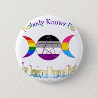 Niemand weiß, dass ich homosexueller Demisexual Runder Button 5,1 Cm