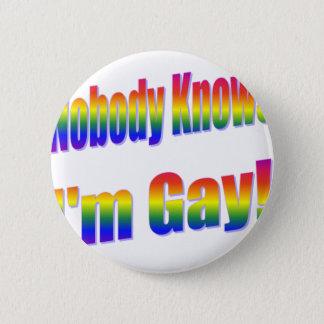 Niemand weiß, dass ich homosexueller Regenbogen Runder Button 5,1 Cm