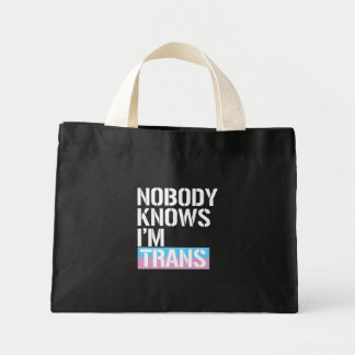 Niemand weiß, dass ich Transport - - LGBTQ Mini Stoffbeutel