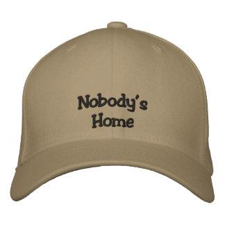 Niemanden Zuhause-Kappe Bestickte Kappe