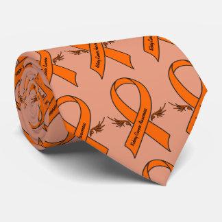 Nieren-Krebs-Bewusstseins-Band mit Flügeln Krawatte