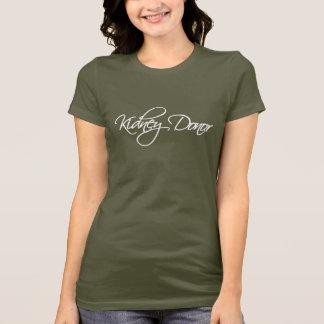 Nieren-Spender - weißes Skript T-Shirt