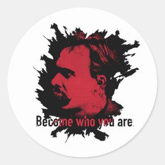Nietzsche Aufkleber - geworden, wer Sie sind