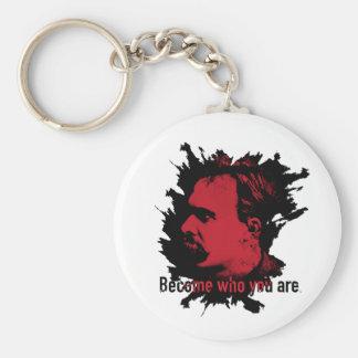 Nietzsche Keychain- werden, wer Sie sind Schlüsselanhänger