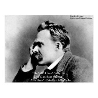 """Nietzsche """"warum"""" Klugheits-Zitat-Geschenke u. Postkarte"""