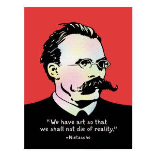 Nietzsche - Wirklichkeit der Kunst-V. Postkarte