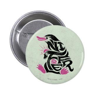 Niffler Typografie-Grafik Runder Button 5,7 Cm