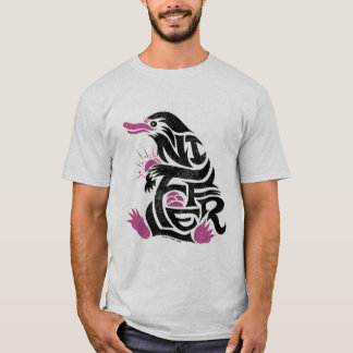 Niffler Typografie-Grafik T-Shirt