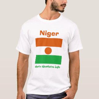 Niger-Flagge + Karte + Text-T - Shirt