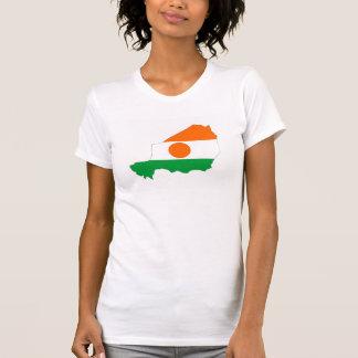 Niger-Landesflaggekarten-Formsymbol T-Shirt