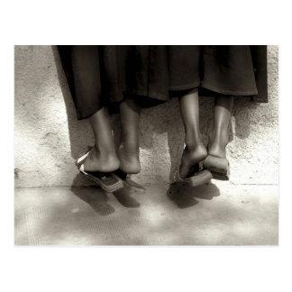 Niger, Niamey, Füße, Plastikpantoffel und lang Postkarte