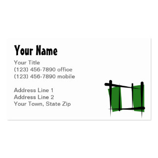 Nigeria-Bürsten-Flagge Visitenkartenvorlage