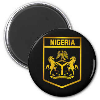 Nigeria-Emblem Runder Magnet 5,1 Cm