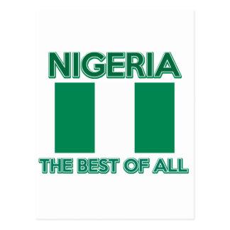 Nigeria-Entwurf Postkarte