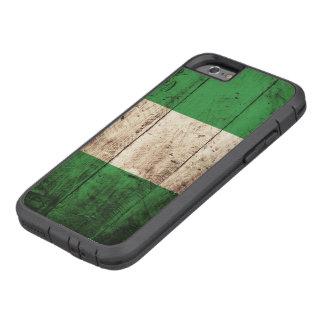 Nigeria-Flagge auf altem hölzernem Korn Tough Xtreme iPhone 6 Hülle