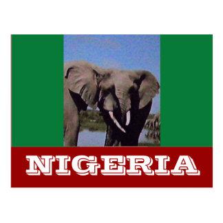 Nigeria-Flagge Postkarte