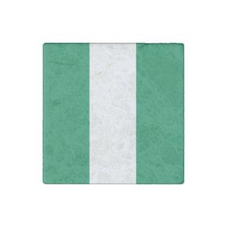 Nigeria-Flagge Stein-Magnet