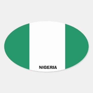 Nigeria-Flaggen-Euro-Ähnlicher ovaler Aufkleber