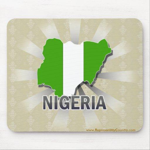 Nigeria-Flaggen-Karte 2,0 Mauspad