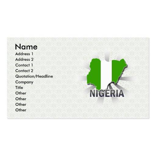 Nigeria-Flaggen-Karte 2,0 Visitenkarten Vorlage